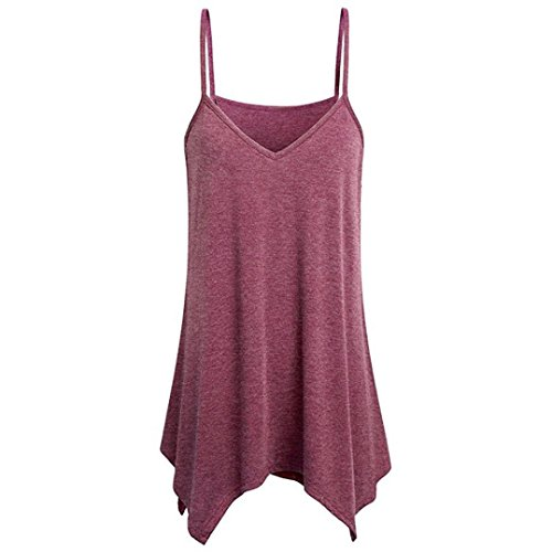 Women's Blouses, FORUU Swing V Neck Summer Solid Fashion Casual Vest Camis Shirt