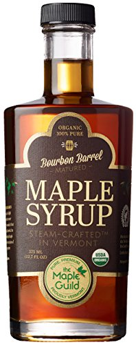 Maple Guild Organic Bourbon Barrel Aged Vermont Syrup, 12.7 Ounce (Syrup Maple Vermont)