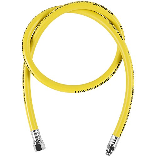 Ist Diving Regulator - IST Yellow 42 Inch Low Pressure Rubber Regulator Hose with Screw On Valve Fittings