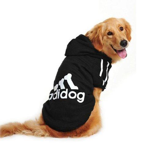 Evergreens Manteau Big Pull en coton pour chien Noir 3XL