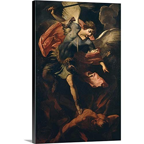 GREATBIGCANVAS Gallery-Wrapped Canvas Entitled Archangel Michael Defeating Lucifer, by Panfilo Nuvolone by 24