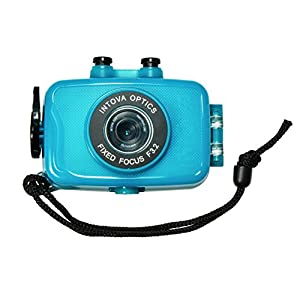 Intova Duo Waterproof HD POV Sports Video Camera, Aqua