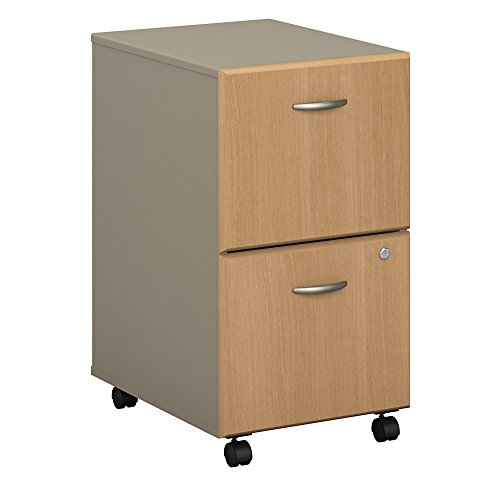 (Bush Business Furniture WC64352PSU Series A 2 Drawer Mobile File Cabinet, Light Oak/Sage )