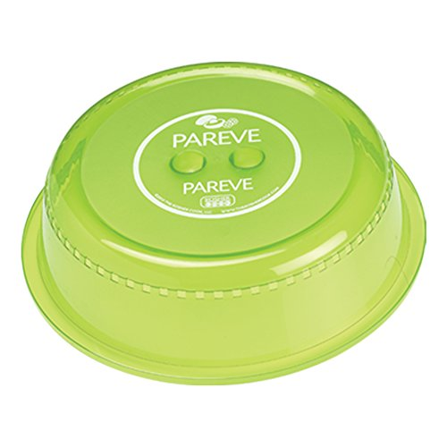 Parve Green Microwave Plate Cover - Food Safe Topper Prevents Splatter and Mess to Keep Microwave Clean - Color Coded Kitchen Tools by The Kosher Cook