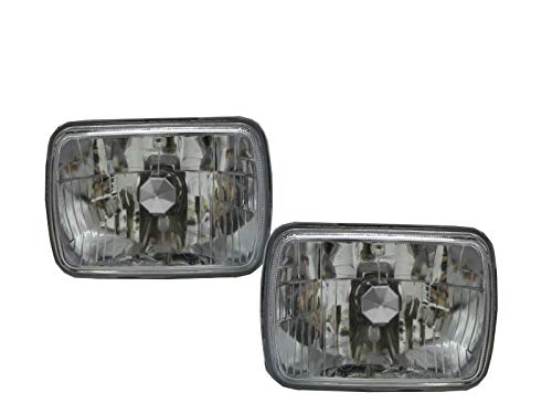 CABI S13 240SX 1989 1994 Fourth generation - Coupe 2D Clear Headlight Headlamp Chrome for NISSAN ()
