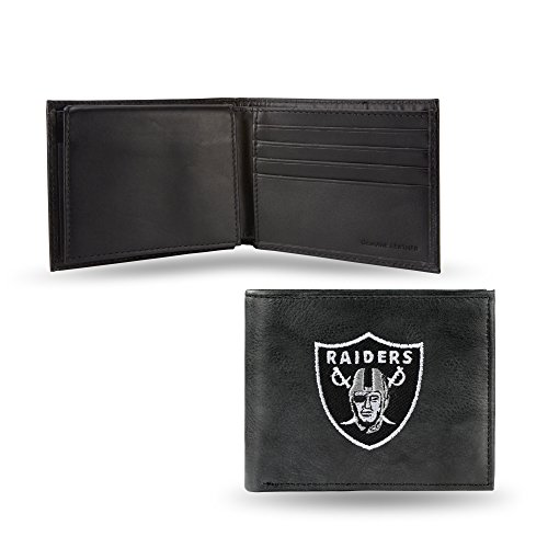 NFL Oakland Raiders Embroidered Leather Billfold Wallet