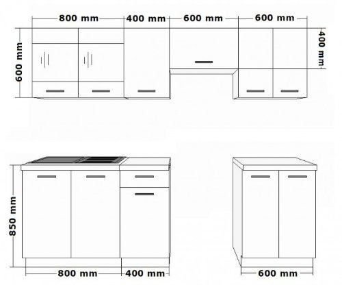 k che dave 240 cm k chenzeile k chenblock variabel stellbar in eiche sonoma tr ffel. Black Bedroom Furniture Sets. Home Design Ideas