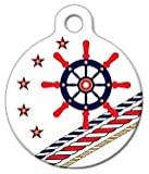 Nautical Theme Pet ID Tag for Dogs and Cats - Dog Tag Art - LARGE SIZE