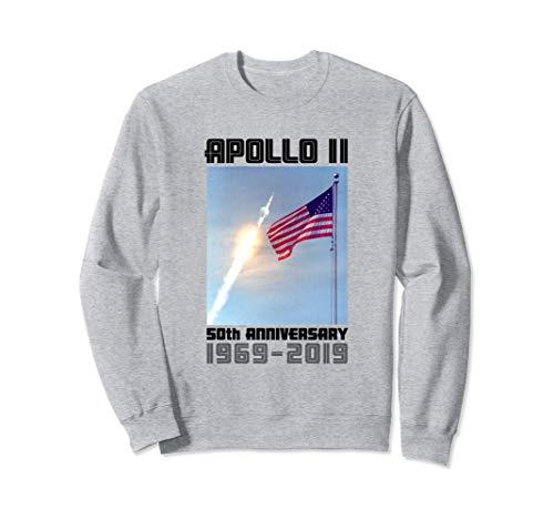 Apollo 11 50th Anniversary Saturn V and US Flag Sweatshirt ()