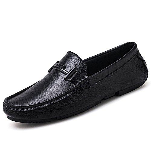 Mocasines Mocasines Esthesis Hombre Mocasines Casuales Cuero Zapatos Genuino Negro de OOSpAnxw