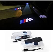 2 Pieces of Car Door LED Logo Projector Ghost Shadow Welcome Lights Easy Installation for BMW