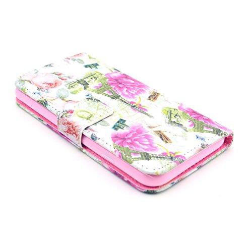 Voguecase® Schutzhülle Tasche Leder Brieftasche Hülle Case Cover für Apple iPhone 6 4.7 Zoll (Kamelien) + Gratis Universal Eingabestift