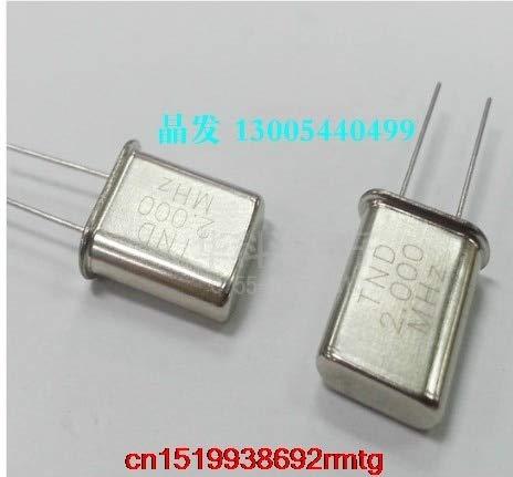 Maslin 20PCS Crystal Oscillator Crystal Resonator HC-49U Crystal 2M 2MHz 2.000MHz