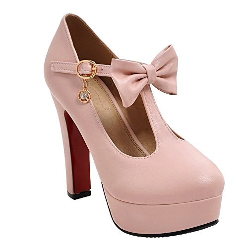 Carolbar Women's Bows Buckle T-Strap Lolita Cosplay Barbi...