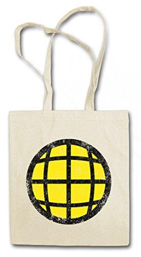 PLANET CHEST LOGO Hipster Shopping Cotton Bag Cestas Bolsos Bolsas de la compra reutilizables - Captain TV Series Planet e i and the Planeteers
