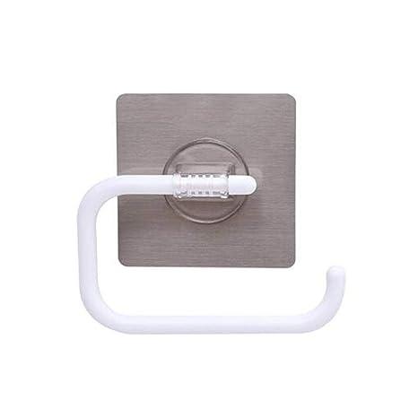 Inchant Papel higiénico Soporte para rollo autoadhesivo, montaje en pared, sin tornillos, sin