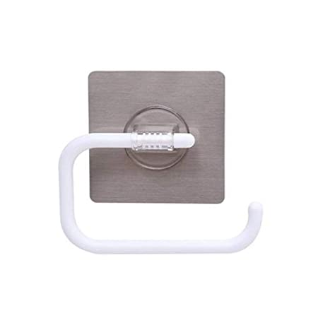 Inchant Toilet Paper Roll Holder Self Adhesive, Wall Mount, No ...
