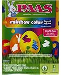 Paas 51pc Rainbow Color Liquid Dye Kit Easter Egg Decorating Bright Food Safe Grocery Gourmet Food Amazon Com