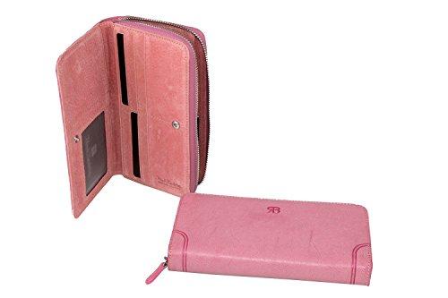 Cartera mujer RENATO BALESTRA rosa modelo compacto con zip A4158
