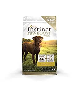 Instinct Raw Boost Grain Free Chicken Meal Formula Natural Dry Dog Food by Nature's Variety, 4.1 lb. Bag