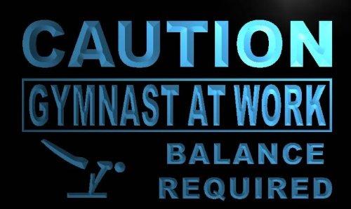 ADV PRO m578-b Caution At Work Gymnast Neon Light Sign