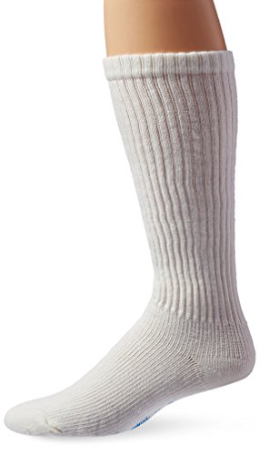 - JOBST Sensifoot Crew Closed Toe Socks, White, Small