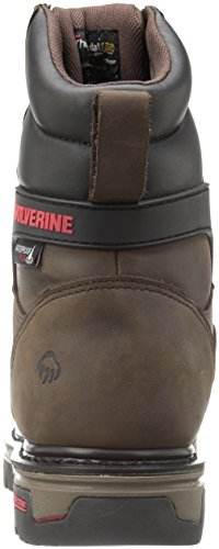 Wolverine Dark Toe Nation Work 8 Insulated Men's inch Comp Brown Waterproof Shoe CCwq7SH