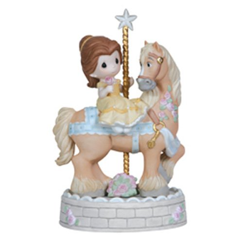 Hand Painted Glass Carousel (Precious Moments, Disney Showcase Collection, Love Makes The World Go Round, Bisque Porcelain Figurine, 121038)