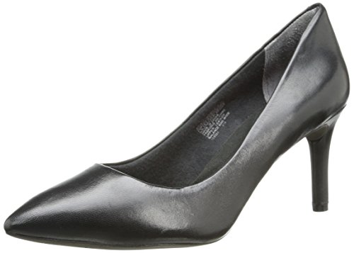 Rockport Women's Total Motion 75mm Pointy Toe Pump Black Smooth Leather 7 M - Blu Pumps