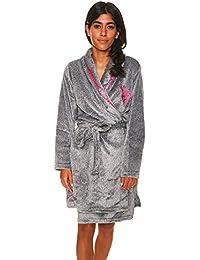 Womens Plush Super Soft and Warm Fleece Bath Robe