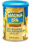 Hawaiian Value Pack Mauna Loa Dry Roasted Macadamia Nuts & Sea Salt 12 Cans
