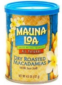 Hawaiian Value Pack Mauna Loa Dry Roasted Macadamia Nuts & Sea Salt 12 Cans by Mauna Loa