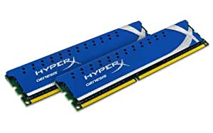 Kingston Technology HyperX 8 GB (2x4 GB Modules) 1600 MHz DDR3 Dual Channel Kit (PC3 12800) 240-Pin SDRAM KHX1600C9D3K2/8GX