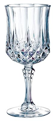 Luminarc Arc International Longchamp Diamax Wine Glasses (Set of 4), Clear Wine Glasses