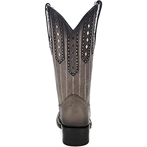 Corral Womens Studded Patch Cowgirl Boots