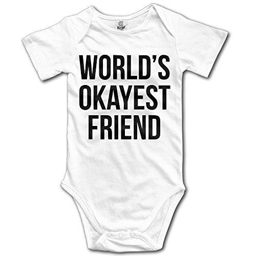 SmallHan World's Okayest Friend Unisex Funny Infant Romper Baby Boy Vest 12 Months White
