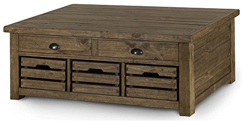- Magnussen Stratton Coffee Table in Distressed Warm Nutmeg Finish