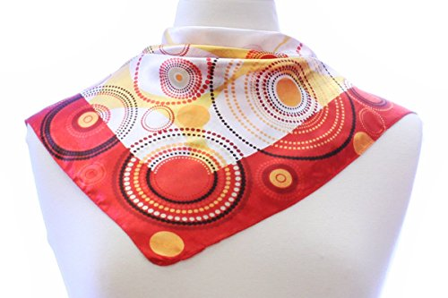 [LL Ladies Pretty Silk Blend Neckerchief Square Scarf Vintage Inspired Many Color (23 inches x 23 inches, Red] (Bag Lady Halloween Costume)