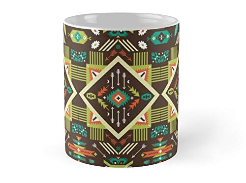 Blades White Navajo - Navajo Seamless Colorful Tribal Pattern Mug - 11oz Mug - Made from Ceramic - Best gift for family friends