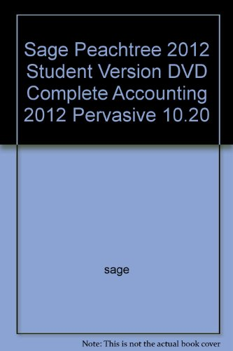 Sage Peachtree 2012 Student Version DVD Complete Accounting 2012 Pervasive 10.20