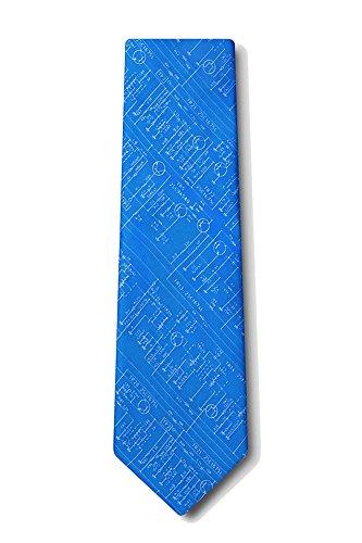 Men's Microfiber Transistor Radio Schematics Retro Tie Necktie (Royal Blue)