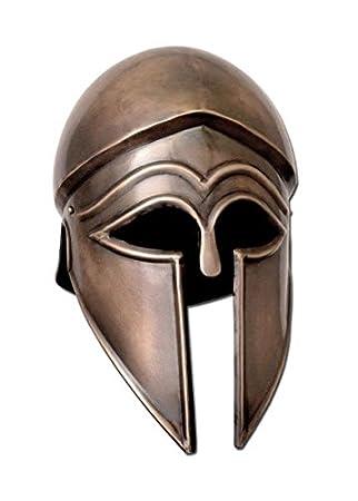 Para iralo Corintios timón, acero acabado envejecido - griegos - antiguo - casco - Gladiator