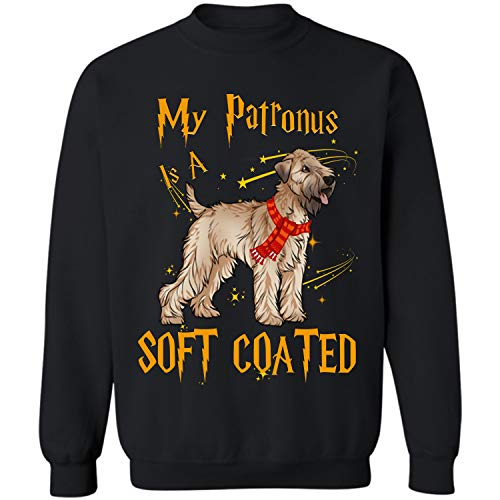 My Patronus is a Soft Coated Wheaten Terrier Crewneck Sweatshirt (Black - - Coated Terrier Mug Wheaten Soft