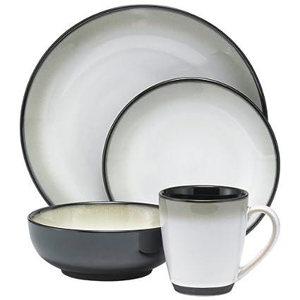 Sango Dinnerware Set Nova Black 20PC  sc 1 st  Amazon.com & Amazon.com | Sango Dinnerware Set Nova Black 20PC: Gibson Dinnerware ...