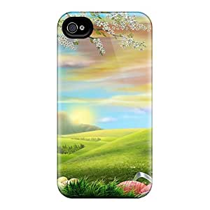 Protector Hard Phone Cases For Apple Iphone 4/4s With Allow Personal Design Lifelike Out In The Country Image AlainTanielian