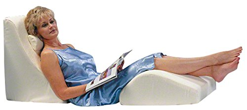 ZERO GRAVITY Orthopedic Bed & Leg Wedge Comfort System by Jobri - Perfect for Lumbar Support, Knee, Back, Neck, Sciatica, Shoulder & Hip Pain, Post Surgery, Leg Circulation, Pregnancy, Sleeping - Adjustable Upright Support
