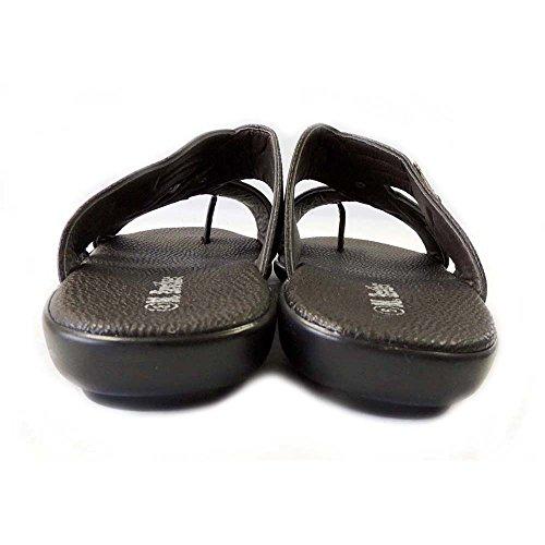 New Fashion Mens Slides Comfort Flat Toe Hold Sandals Light WEIGHT-1153/BROWN fGG5B
