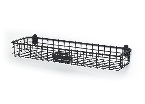 Spectrum Diversified Vintage Wall Mount Storage Tray/Basket, Industrial Gray (Small Wire Baskets)