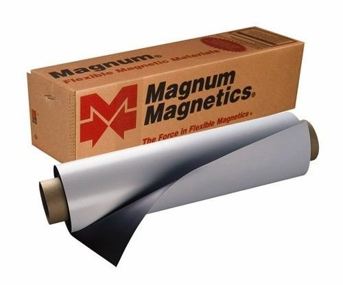 Magnum Magnetics 24''x5 feet 30mil Super Strong Flexible Material by MAGNUM MAGNETICS