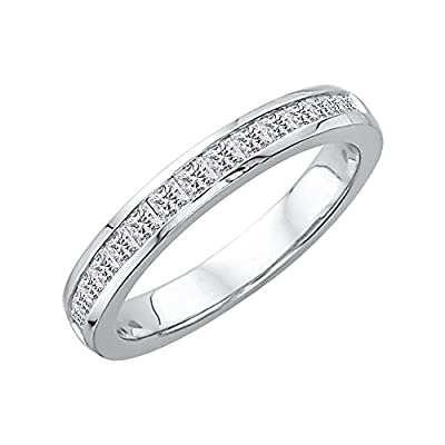 Princess Cut Diamond Wedding Band in 14K Gold (1/2 cttw)